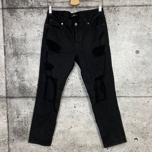 7 For All Mankind // Black Distressed Jeans
